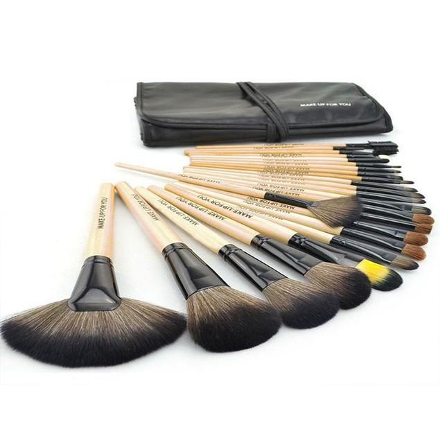Premium Wood Brush Set