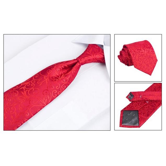 Men's Dress Suit Tie Set - Red