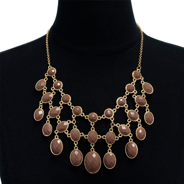 Gold Plated Reversible Bib Necklace - 2 Styles