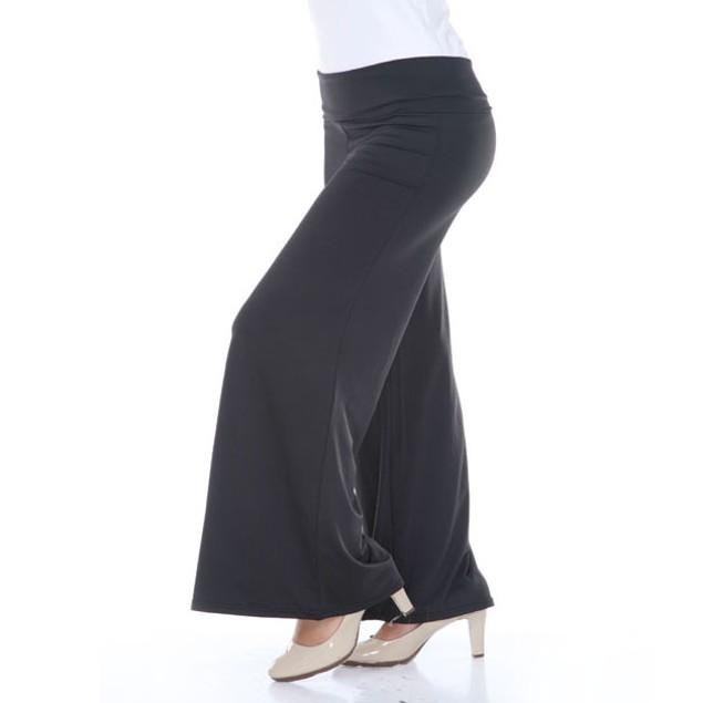 White Mark Black Plus Size Palazzo Pants