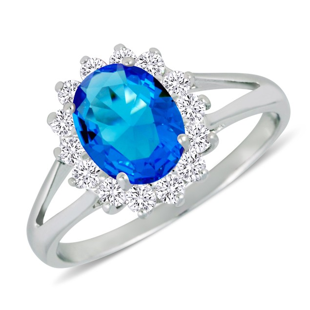 Cubic Zirconia Halo Ring - 2 Colors