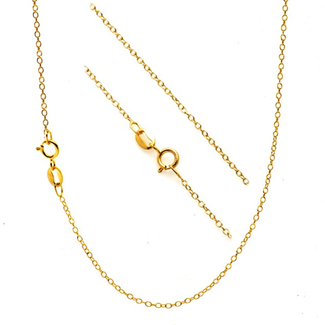 5-Pack Gold Plated Cable Chain
