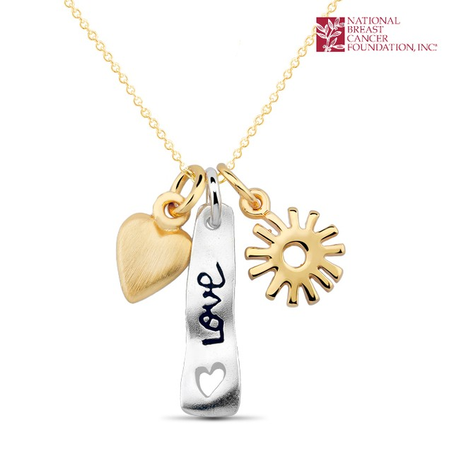 National Breast Cancer Foundation Inspirational Jewelry - Sterling Silver Love Pendant