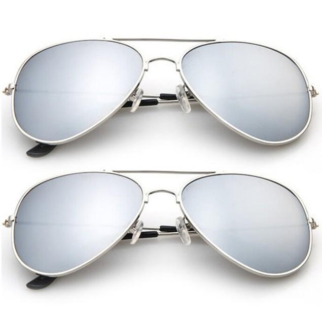 2-Pack: Designer-Inspired Mirrored Aviators
