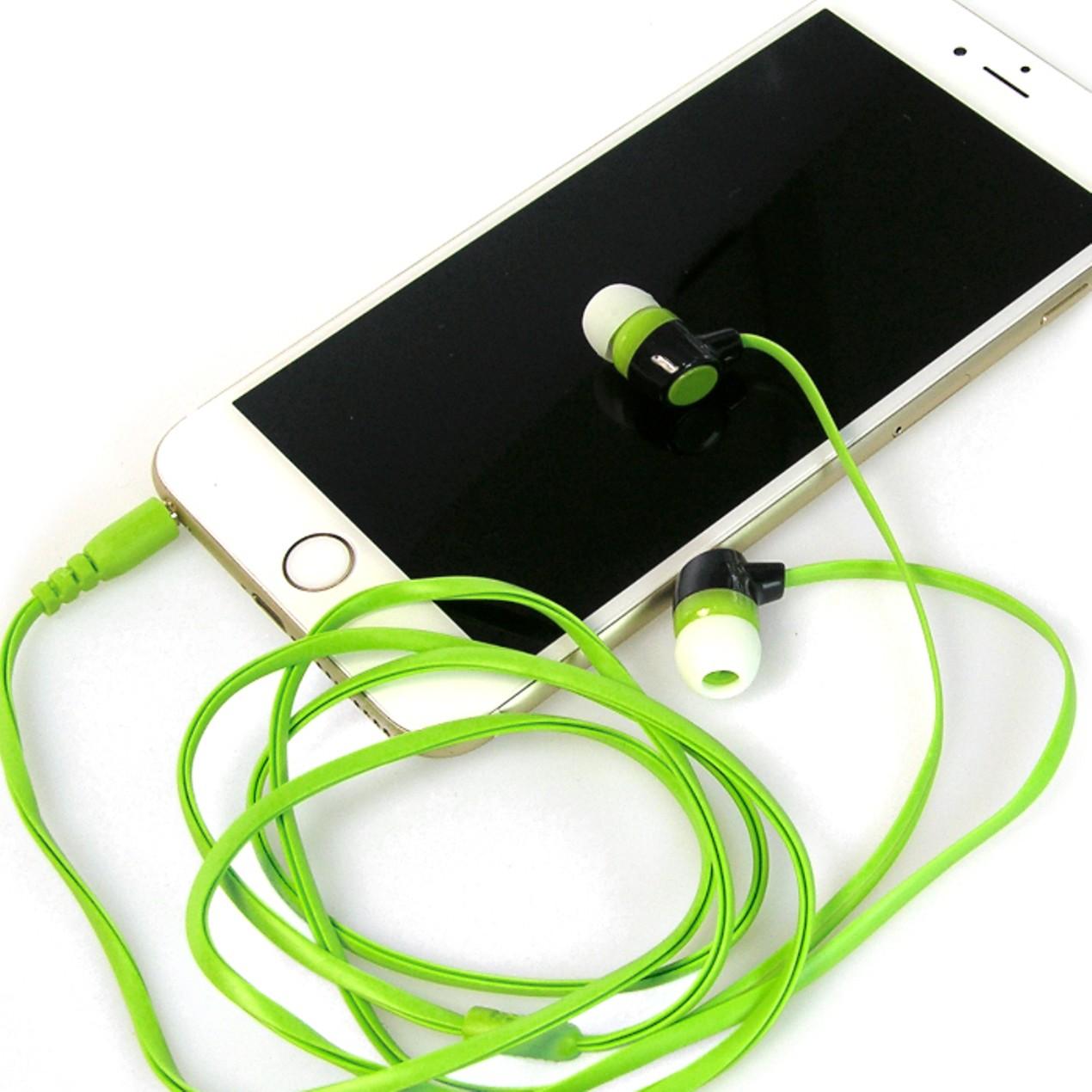 223e6935010 10-Pack: Earbud Headphones - Assorted Colors - Tanga