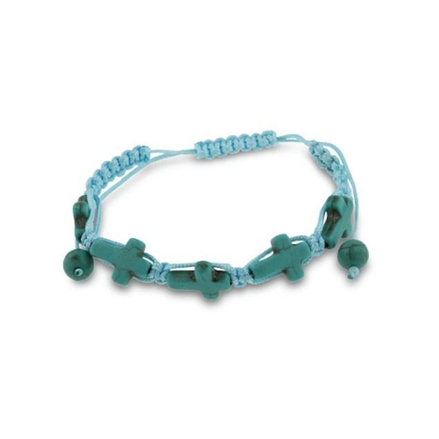 Set Of Three Turquoise Sideways Cross Bracelets