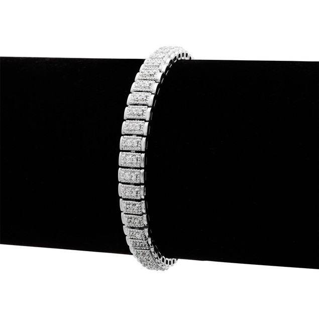 Double Row Diamond Tennis Bracelet 1.05cttw