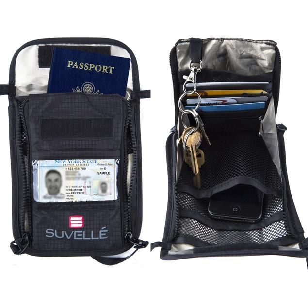 Suvelle RFID Blocking Neck Pouch Passport Wallet