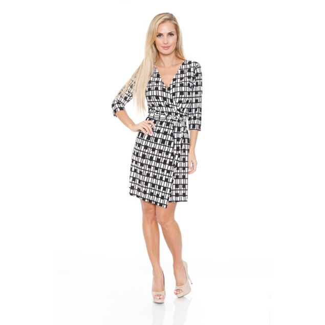 White Mark Women's 'Mariah' Wrap Dress
