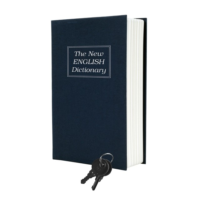 Dictionary Diversion Book Safe with Key Lock - Metal