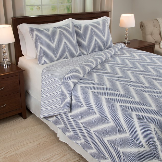 Lavish Home Oriana 3 Piece Quilt Set