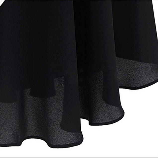 Black Sleeveless Chiffon Tunic Top