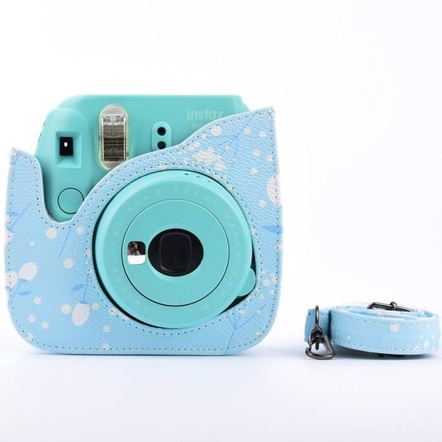Leather Flower Camera Case Bag For FUJIFILM Instax Mini8 Mini8s