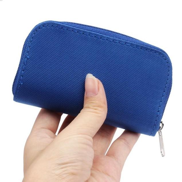 22-Slot Memory Card Zipper Case - 5 Colors